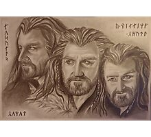 Thorin Oakenshield, a willing heart... Photographic Print
