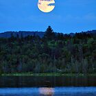 Moon Over Eagle Lake by Caleb Ward