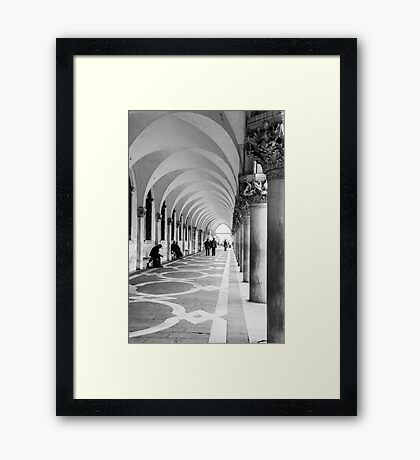 Underneath the archway Framed Print