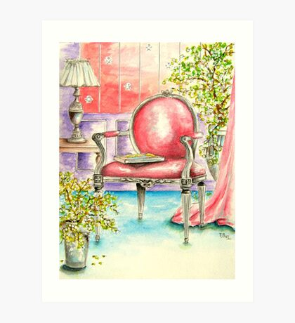 Pink Chair Art Print