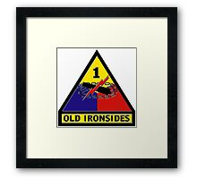 First Armored Division Logo Framed Print