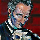 Peter Cushing - Baron Frankenstein by Ashley Thorpe