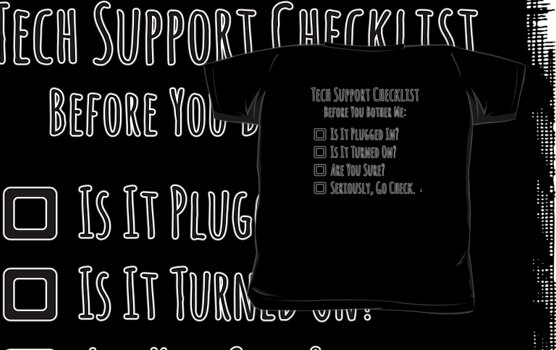 Tech Support Checklist by Amy-Elyse Neer