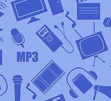 media seamless pattern by Marishkayu