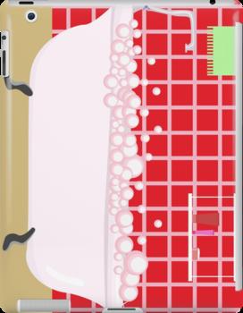 red bathroom by Marishkayu