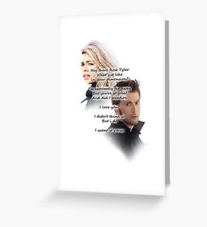 Hey There Rose Tyler (not Delilah) Greeting Card