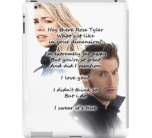 Hey There Rose Tyler (not Delilah) iPad Case/Skin