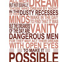 'All Men Dream' Quote [RED] by Styl0