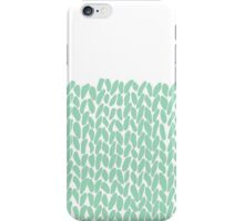 Half Knit Mint iPhone Case/Skin