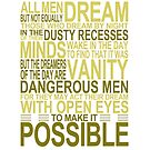 'All Men Dream' Quote [YELLOW] by Styl0