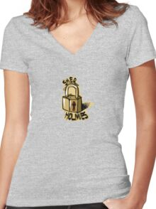 sher-LOCK Women's Fitted V-Neck T-Shirt