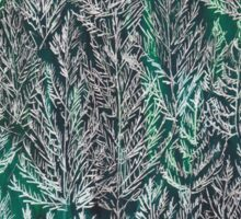 Snow Pines (Dark Green) Sticker