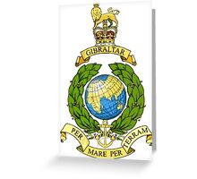 The Corps of Royal Marines Logo Greeting Card