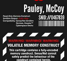 Dixie Flatline Warning Label - Sticker by WolfeCreative