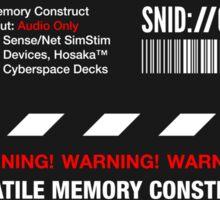 Dixie Flatline Warning Label - Sticker Sticker