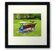 An Irish Country House Garden Framed Print