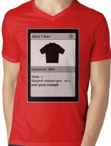 Magic Card Funny T Shirt Mens V-Neck T-Shirt