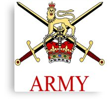 British Army Crest Canvas Print