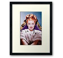 Lucille Ball- Queen of Comedy Framed Print