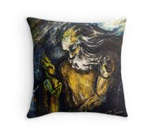 """""""Titan asks sun and moon the way to his beloved"""" Throw Pillow"""