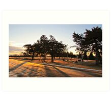 Sunrise at Springdale Art Print