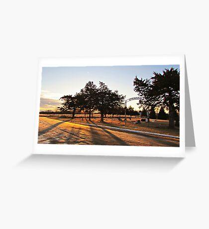 Sunrise at Springdale Greeting Card