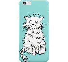 White cat iPhone Case/Skin