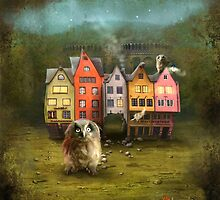 'Owl The Battering Ram' by Matylda  Konecka Art