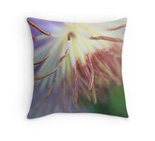 Macro Purple Clematis Bloom Throw Pillow