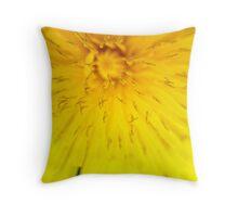 Macro Dandelion Bloom 3 Throw Pillow