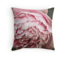 Subtle Pink Peony Flower Throw Pillow