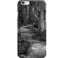 Black and White Road Less Traveled iPhone Case/Skin