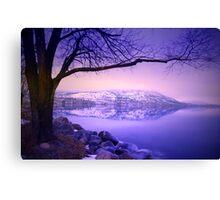 Sunday Morning at Okanagan Lake Canvas Print