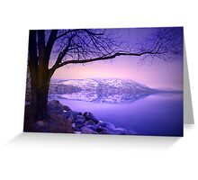 Sunday Morning at Okanagan Lake Greeting Card