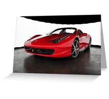 Ferrari 458 Italia Spider Greeting Card