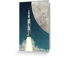 Apollo Rocket Greeting Card