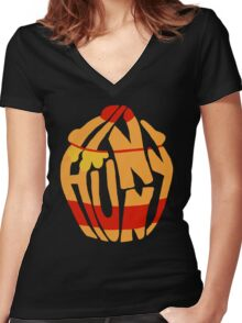 Hunny Women's Fitted V-Neck T-Shirt