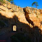Grand Canyon trail with tunnel by LichenRockArts