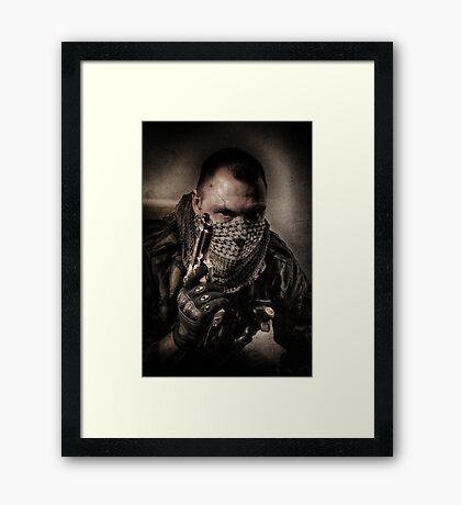 I'M JUST A SOLDIER Framed Print