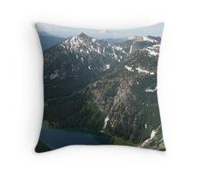 Rainier and Mt Daniels, Cascade mountains, Washington Throw Pillow