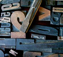"Typesetting - Letter ""V"" by Mary Ellen Garcia"