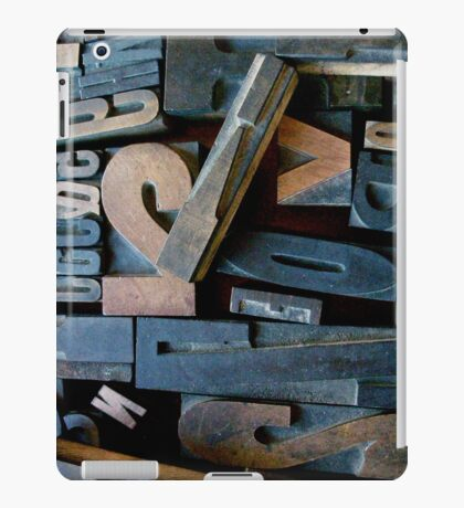 "Typesetting - Letter ""V"" iPad Case/Skin"