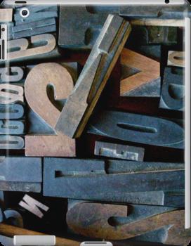 """Typesetting - Letter """"V"""" by Mary Ellen Garcia"""