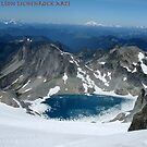 Ivanhoe Lake, Cascade Mountains, Washington by LichenRockArts