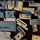 "Typesetting - The Letter ""N"" by Mary Ellen Garcia"