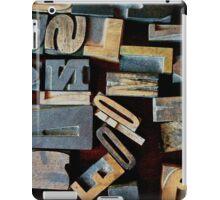 "Typesetting - The Letter ""N"" iPad Case/Skin"