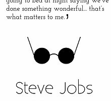 Steve Jobs Inspirational Quote by Tommy Brown