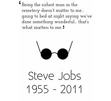 Steve Jobs Inspirational Quote Photographic Print