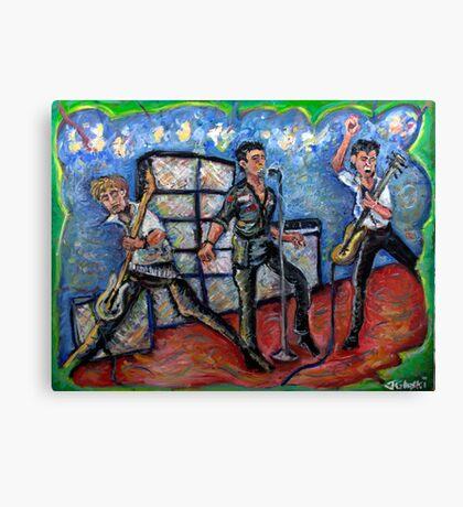 Revolution Rock - The Clash - Oil on Canvas Canvas Print