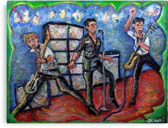 Revolution Rock - The Clash - Oil on Canvas by Jason Gluskin